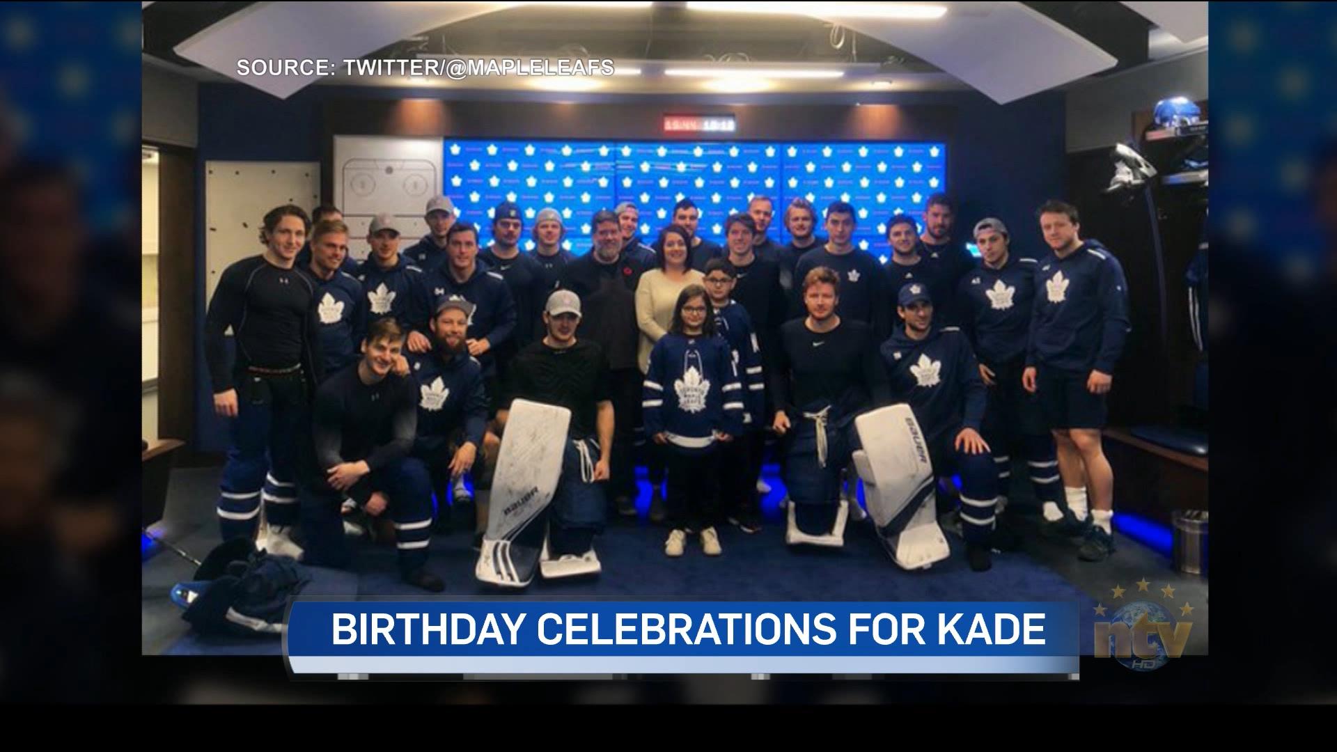 Corner Brook boy gets birthday gift of a lifetime from Toronto Maple Leafs - NTV News