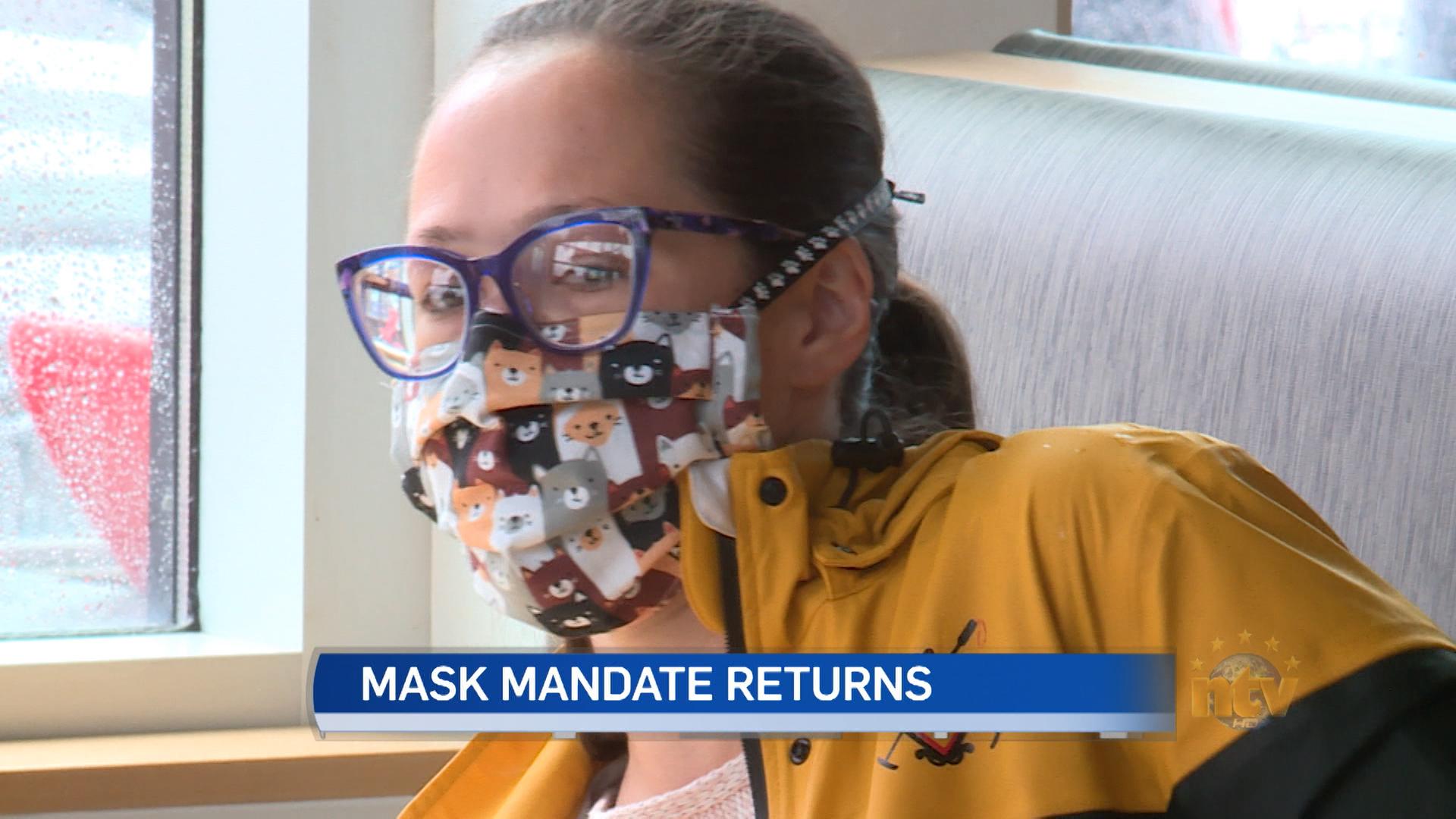 Mask mandate returns; vaccine passport will be mandatory